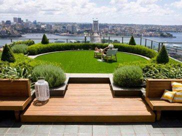 Озеленение крыши, террасы