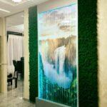 Озеленение мхом, пузырьковая панель