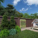 Проект, визуализация ландшафтного дизайна